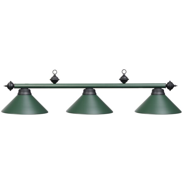 Harpersfield 3-Light Metal Billiards Light by Laur