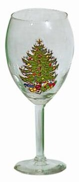 Original Christmas Tree Wine Goblet (Set of 2) by The Holiday Aisle