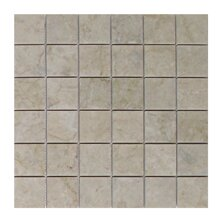 Olympos Polished 2 x 2 Marble Mosaic Tile in Beige