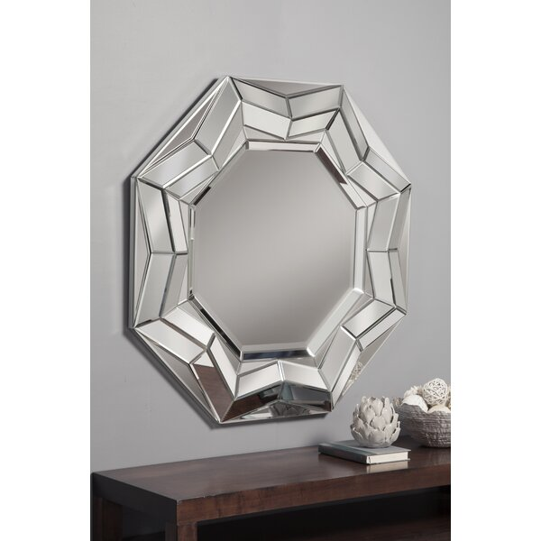 Beveled Round Wall Mirror by Best Quality Furniture