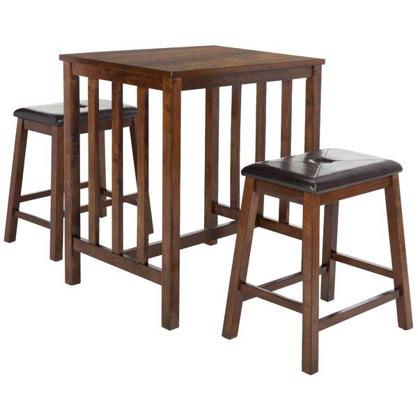 Vanderpool 3 Piece Pub Table Set by Red Barrel Studio