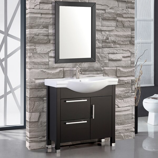 Peru 36 Single Sink Bathroom Vanity Set with Mirror by MTD Vanities