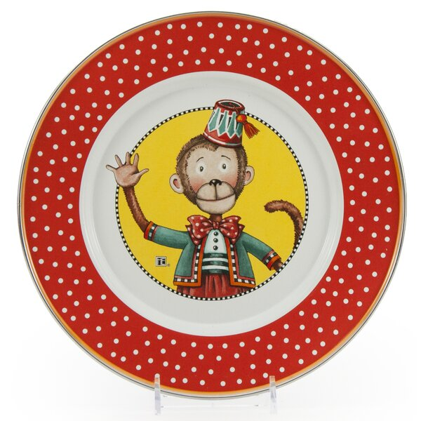 Chagford Monkey Leaping 8.5 Salad Plate (Set of 4) by Zoomie Kids