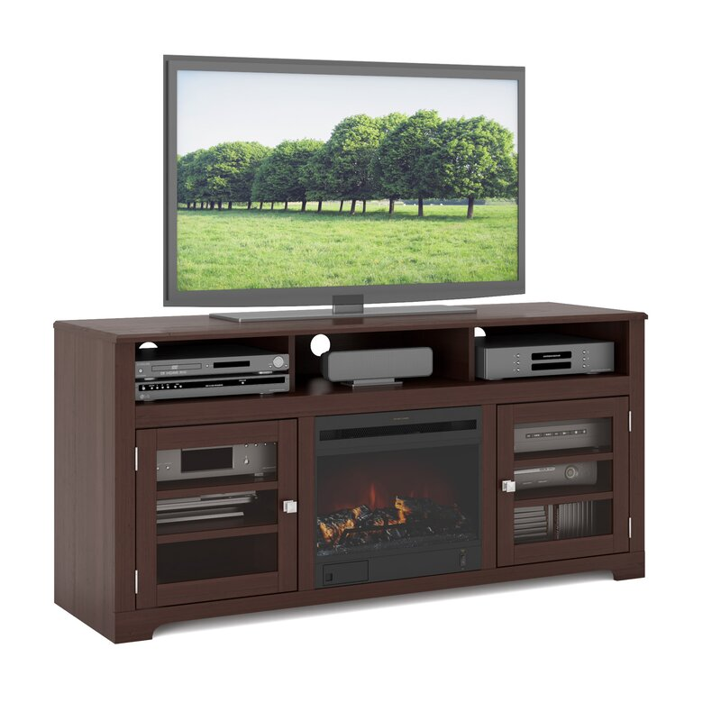 DCOR Design West Lake 60 TV Stand With Fireplace