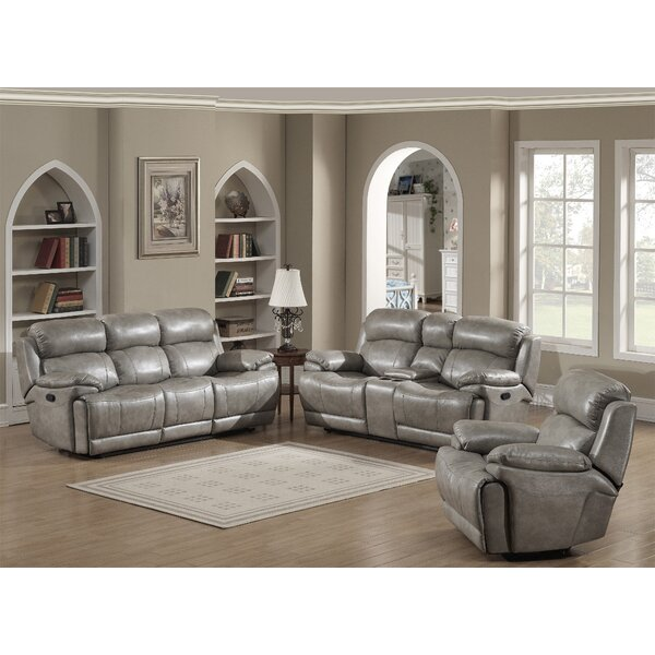 Kunkel Reclining 3 Piece Living Room Set by Red Barrel Studio