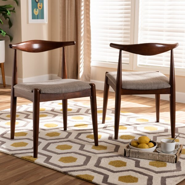 Carman Solid Wood Dining Chair (Set of 2) by George Oliver