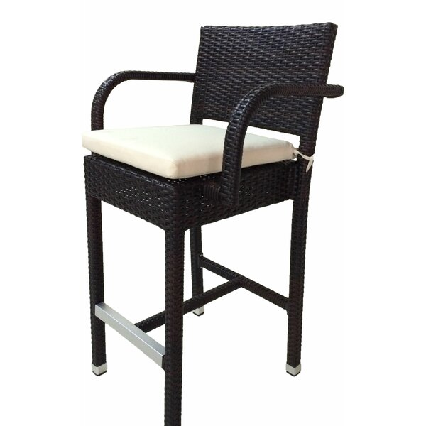 Mcgruder 30 Patio Bar Stool with Cushion (Set of 2) by Ivy Bronx| @ $289.99