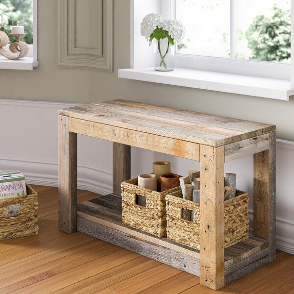 Tubeeuse Wood Entryway Bench by Lark Manor