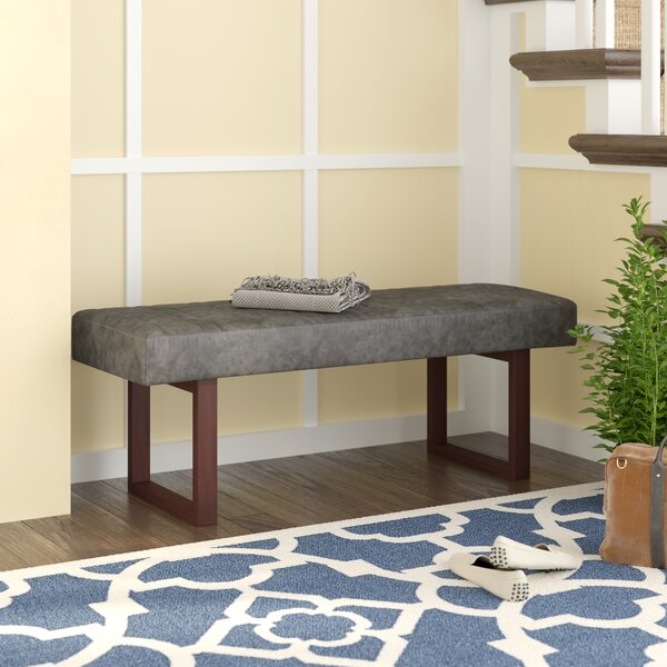 Cielito Faux Leather Bench by Williston Forge