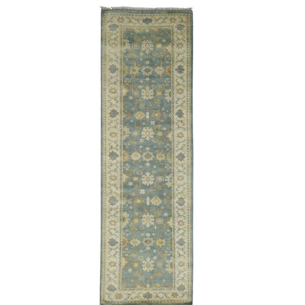 One-of-a-Kind Lausanne Hand-Knotted Teal Area Rug by Canora Grey