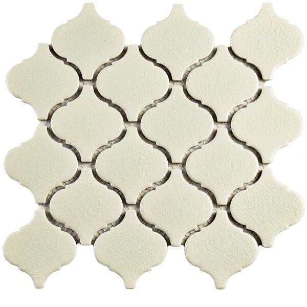 Retro Lantern 2.87 x 3.06 Ceramic Mosaic Tile in Crackle White by EliteTile