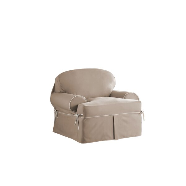 Relaxed Fit Twill T-Cushion 3 Piece Slipcover Set by Red Barrel Studio
