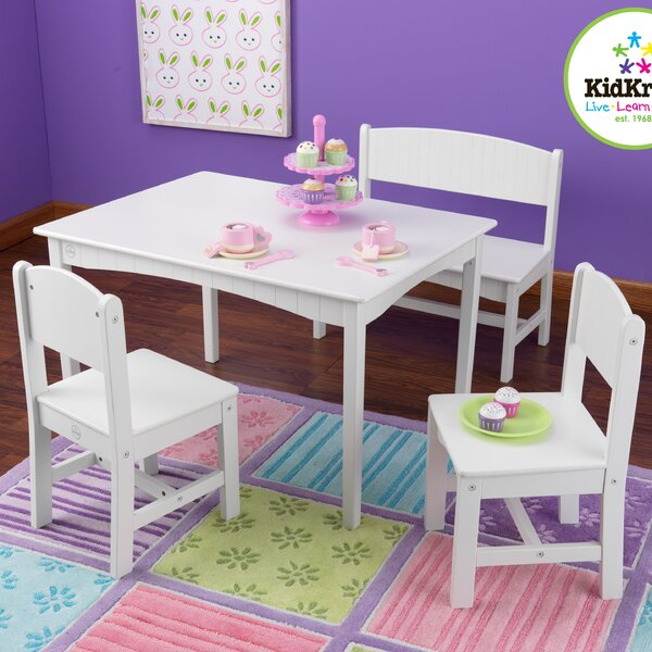 Nantucket Kids 4 Piece Table and Chair Set by KidK