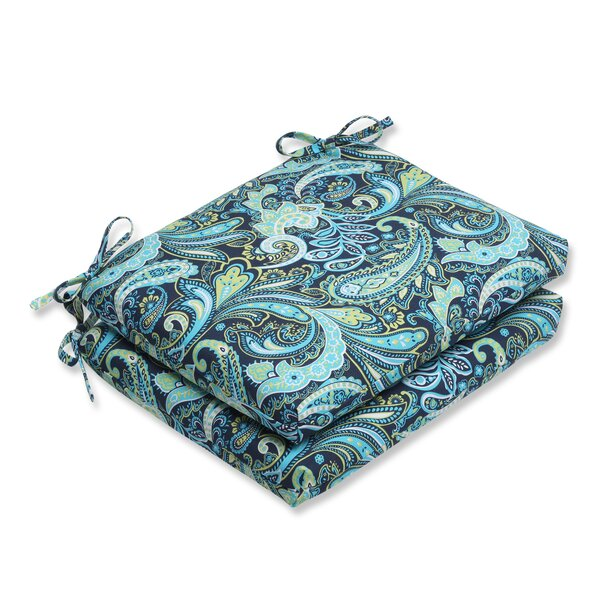 Pretty Indoor/Outdoor Seat Cushion (Set of 2) by Pillow Perfect