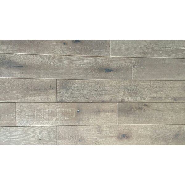Jasmine 6 Solid Oak Hardwood Flooring in Distressed Driftwood by Welles Hardwood