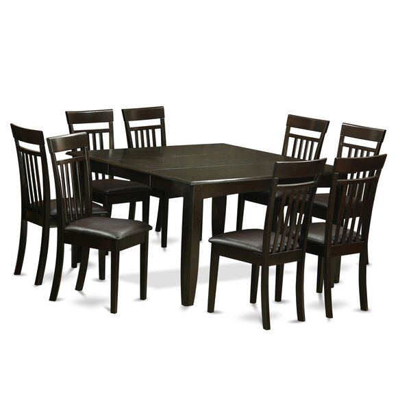 Pilning Contemporary 9 Piece Wood Dining Set by August Grove