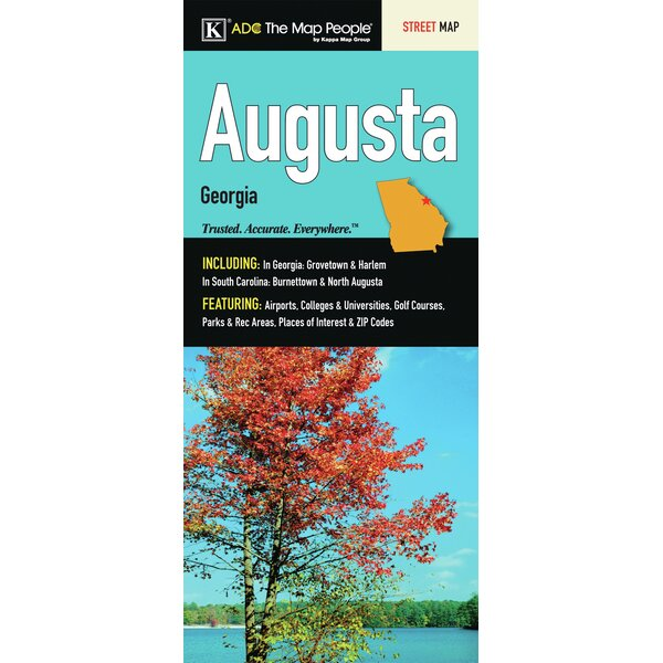 Augusta Georgia Fold Map by Universal Map