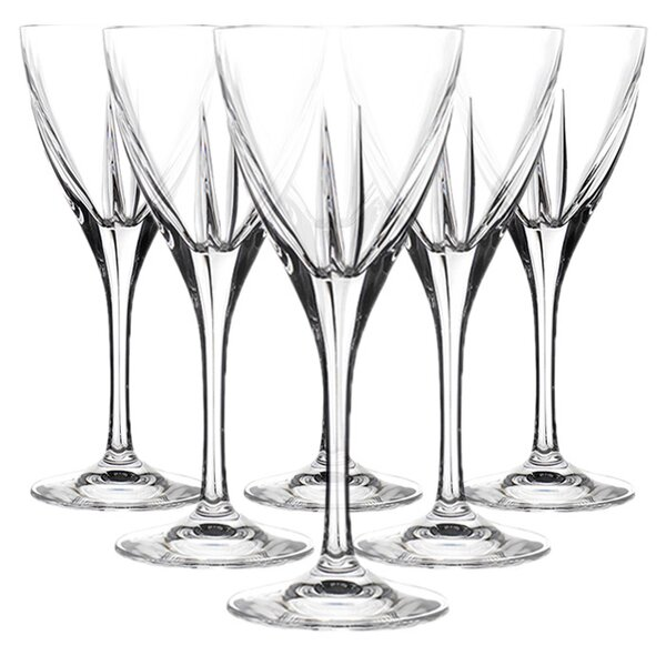 Fusion RCR Crystal Water Glass (Set of 6) by Lorren Home Trends
