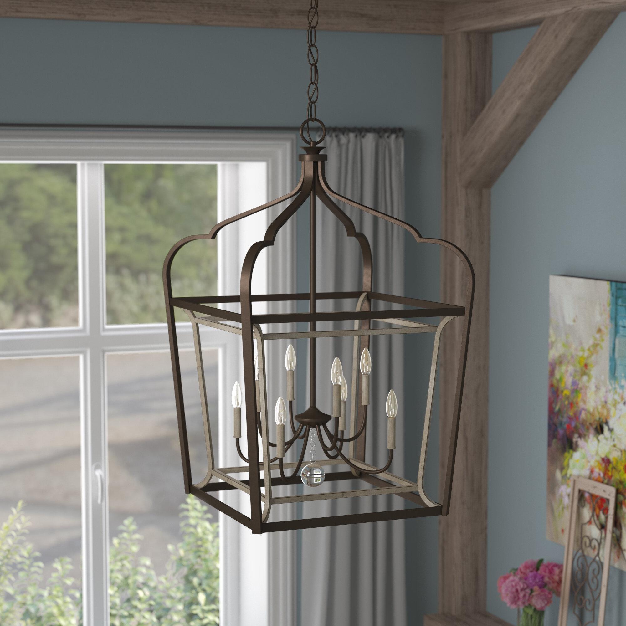 Evangeline 8 light foyer pendant laurel foundry modern farmhouse evangeline 8 light foyer pendant reviews wayfair aloadofball Images