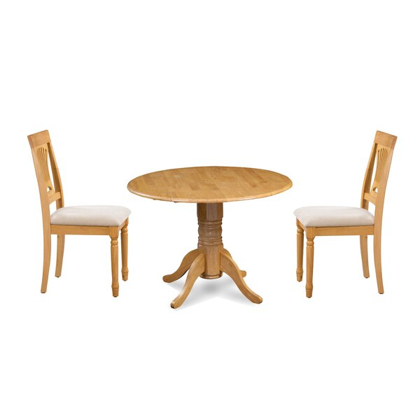 Kelston Mills 3 Piece Drop Leaf Dining Set by Alcott Hill