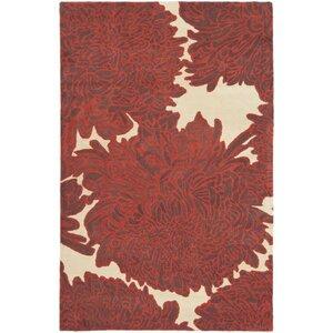 Martha Stewart Chrysanthemum Tufted / Hand Loomed Area Rug