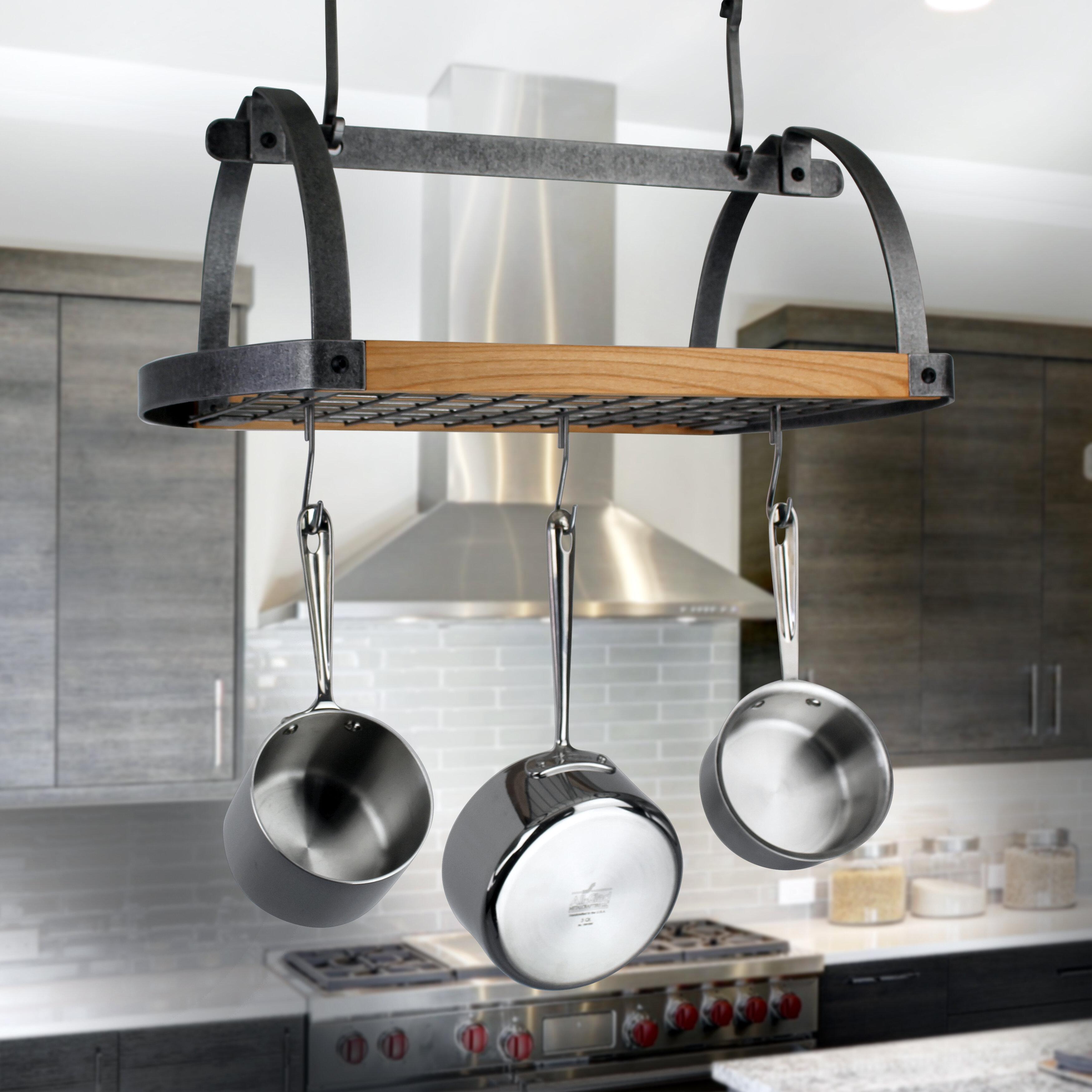 Decor Oval Ceiling Hanging Pot Rack