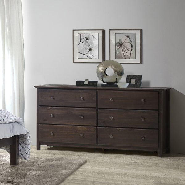 New Shaker 6 Drawer Double Dresser By Grain Wood Furniture 2019 Sale
