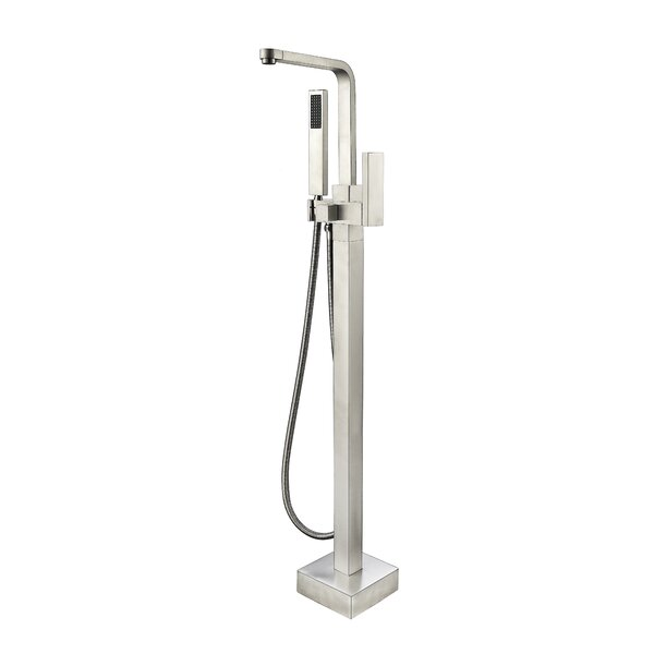 Single Handle Floor Mounted Tub Filler with Hand Shower by Vanity Art
