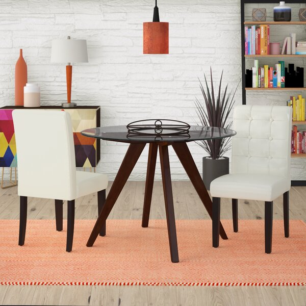 Pine Island Parsons Chairs in Ivory (Set of 2) by Wade Logan