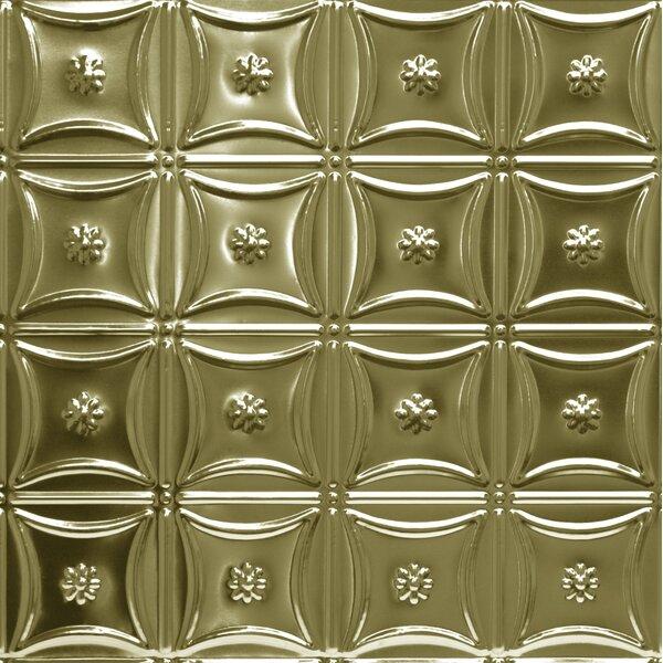 23.75 x 23.75 Metal Tile in Brass by Shanko