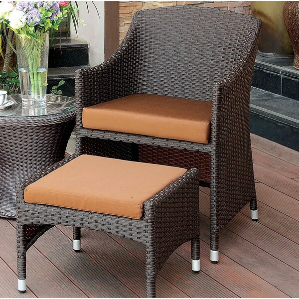 Wortham Patio Chair with Cushion by Bay Isle Home