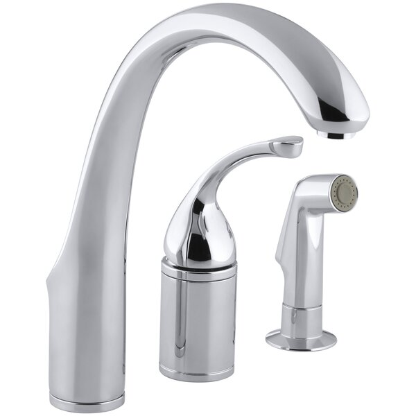Forté 3-Hole Remote Valve Kitchen Sink Faucet with 9 Spout with Matching Finish Sidespray by Kohler