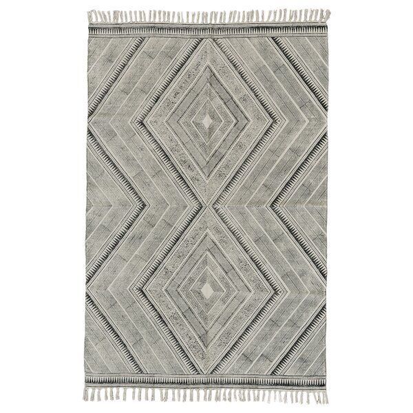 Lovell Hand-Woven Black Area Rug by Union Rustic