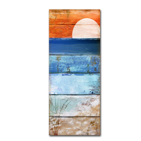 Beach Moonrise Ii Painting Print On Wrapped Canvas By Breakwater Bay.