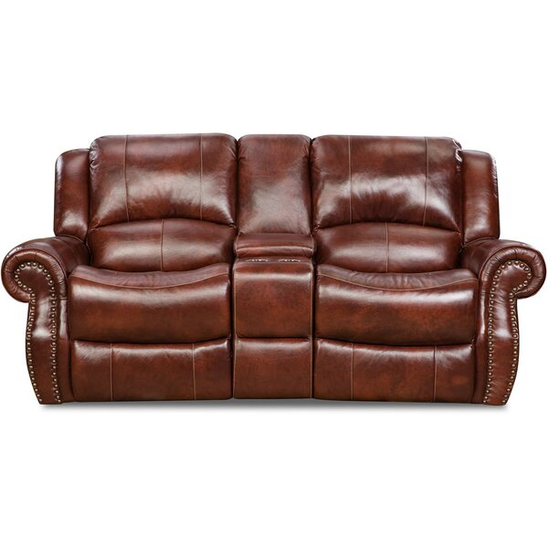 New Collection Additri Leather Reclining Loveseat by Darby Home Co by Darby Home Co