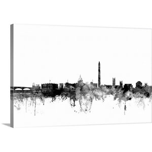 'Washington DC Skyline' by Michael Tompsett Graphic Art on Wrapped Canvas by Great Big Canvas