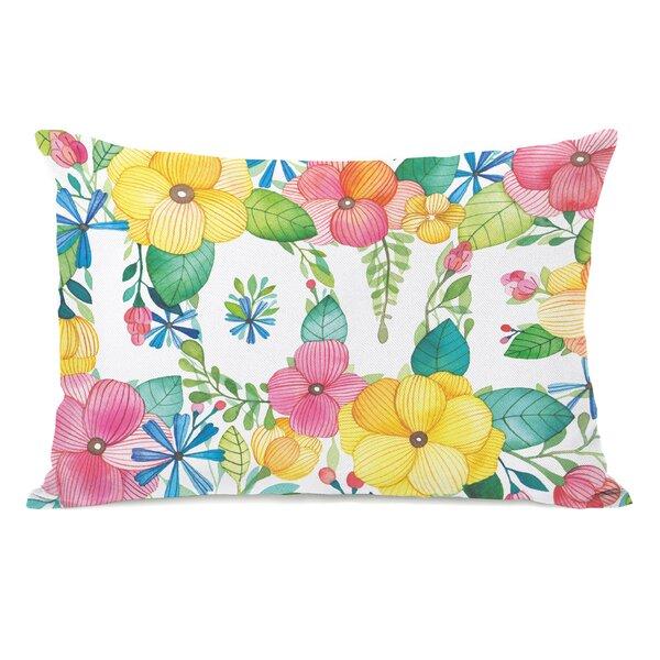 Floral Love Lumbar Pillow by One Bella Casa