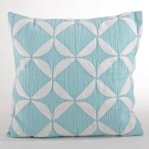Ayla Crewel Work Design Throw Pillow by Saro