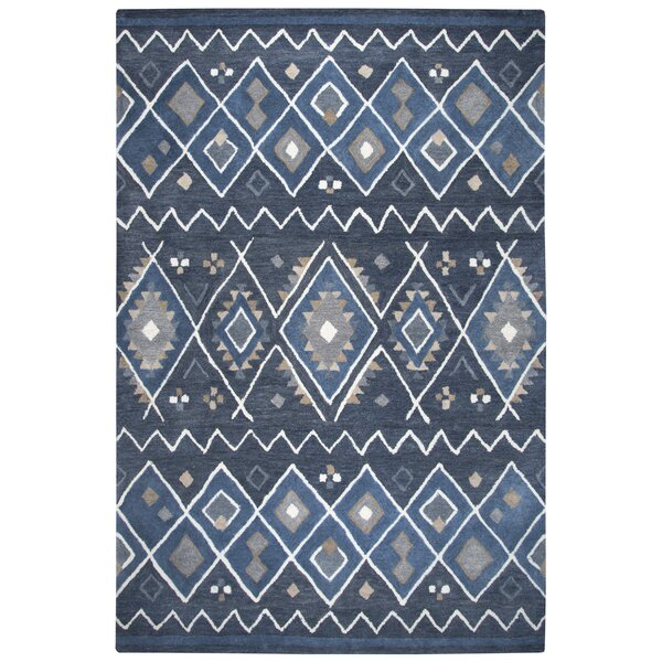 Nona Hand-Tufted Wool Indigo Area Rug by Union Rustic