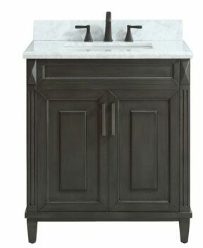 Potvin Marble Top 31 Single Bathroom Vanity Set by Gracie Oaks