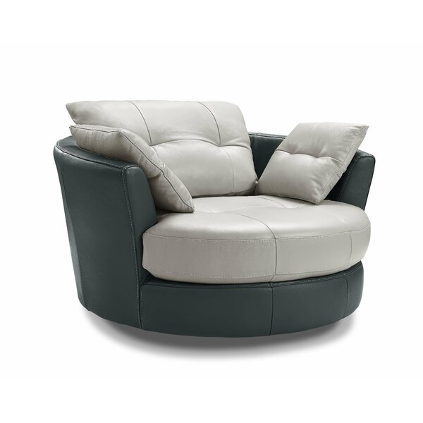 Kerry Swivel Barrel Chair by Orren Ellis