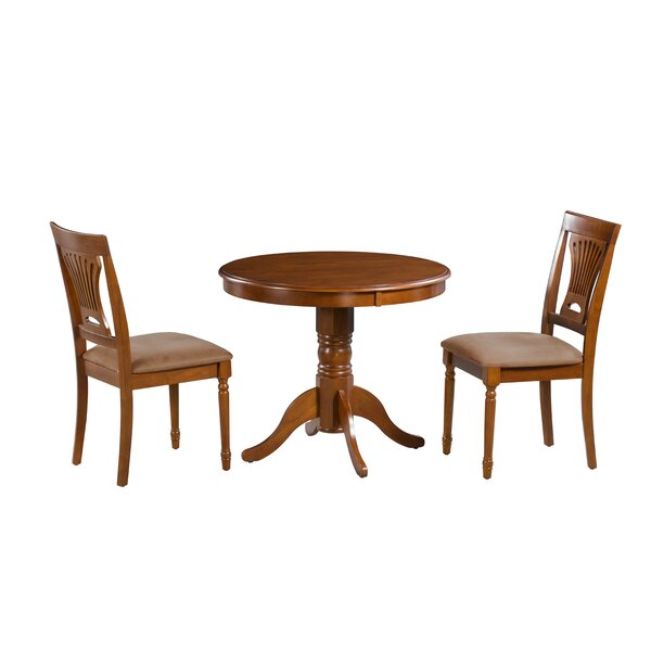 Inwood 3 Piece Solid Wood Dining Set by Darby Home Co