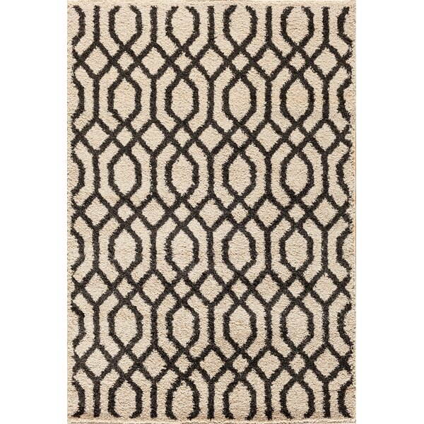 Hamilton Pearl/Black Area Rug by Threadbind
