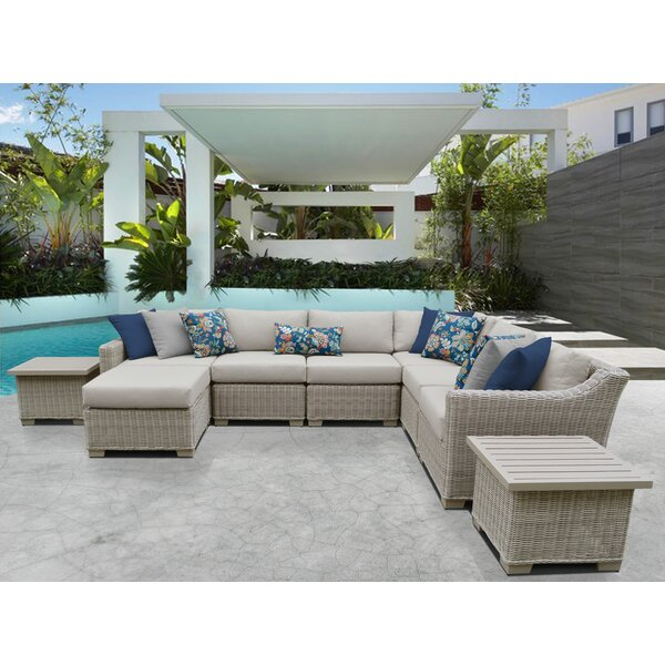 Claire 9 Piece Sectional Seating Group with Cushions by Rosecliff Heights
