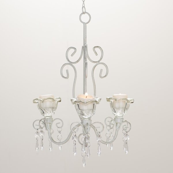 Barr Iron & Acrylic 3-Light Candle Style Chandelier by Harriet Bee