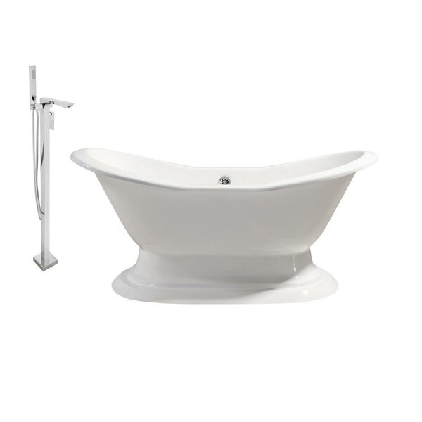 Cast Iron 72 x 31 Freestanding Soaking Bathtub by Streamline Bath