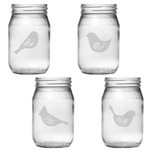 Piper Drinking 16 oz. Jar Set by Susquehanna Glass
