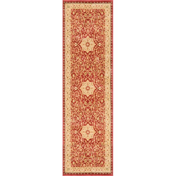 Allerdale Oriental Red/Ivory Area Rug by Astoria Grand