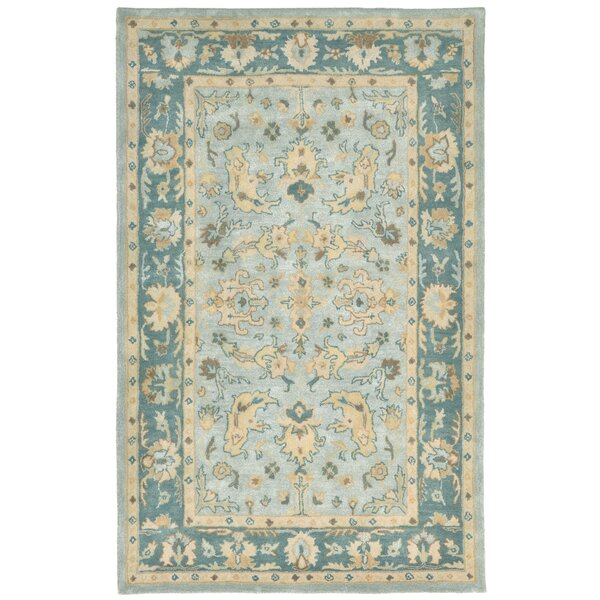 Eugenie Hand-Tufted Aquamarine Area Rug by Alcott Hill