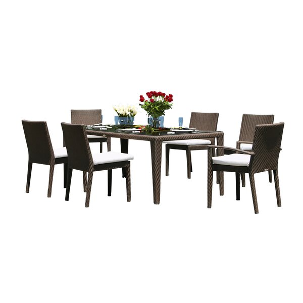 Hicklin 7 Piece Dining Set with Cushions by Brayden Studio